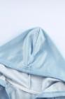 Sky Blue Cotton Pocketed Tie-Dye Hoodie