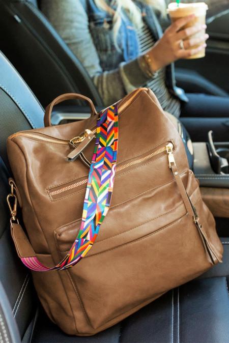 Коричневый повседневный универсальный рюкзак