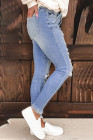 Light Blue Washed Ripped Jeans