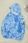 Blauer Pullover mit Tie-Dye-Print