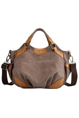 حقيبة كروس جلد صناعي بنية اللون