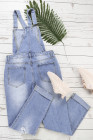 One-piece Denim Jumpsuit