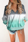 Grey Cotton Pocketed Tie-Dye Hoodie