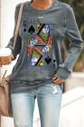 Poker QUEEN Grafisches Sweatshirt mit Rundhalsausschnitt