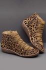 Hnědé leopardí boty na zip