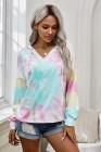 Multicolor Colorblock Der Sun Cotton Blend Tie Dye Hoodie