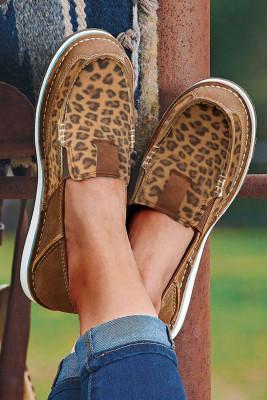 Leopardí ploché plátěné tenisky