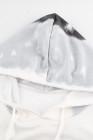 Grauer Hoodie mit langen Ärmeln und Farbverlauf