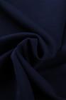 Cardigan drapé sans manches en cascade bleu