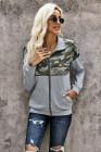 Full Zip Color Block Pullover Sweatshirt