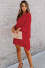 Red Side To Side One Shoulder Statement Mini Dress