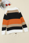 Orange Colorblock Strickpullover
