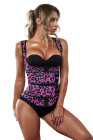Leopard Latex Underbust Sport Girdle Waist Trainer
