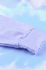 Фиолетовый Colorblock Толстовка с капюшоном из хлопкового красителя The Sun