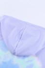 Purple Colorblock The Sun sudadera con capucha tie dye en mezcla de algodón