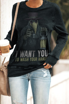 I WANT YOU Sudadera estampada con cuello redondo