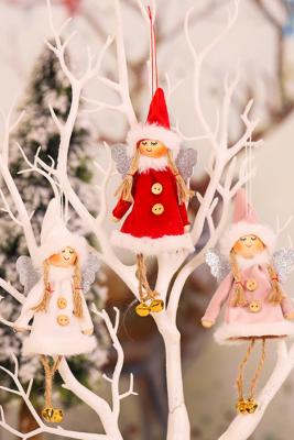 3 stks / zak Kerstboom Knit Babydoll Opknoping Ornament