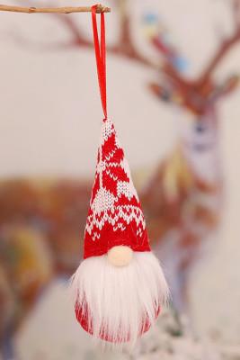 Klassieke kerst anonieme Gnome Santa kerstboom hangende ornament