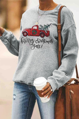 Merry Christmas Car Pattern Sweatshirt