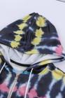 Schwarze Krawattenjacke mit Reißverschluss und Reißverschluss und Kapuze