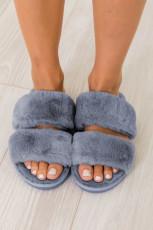รองเท้าแตะ Blue Furry Vamp