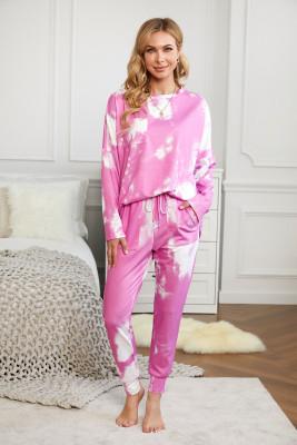 Conjunto de loungewear multicolor tie-dye