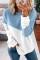Голубой свитшот с заниженными плечами в стиле пэчворк