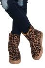 Botas de neve com estampa de leopardo