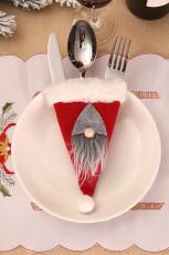 Red Santa Gnome Tableware Bag