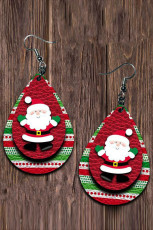 Santa Claus Double Layer Earrings