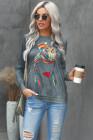 GRL PWR Grafik Sweatshirt mit Rundhalsausschnitt