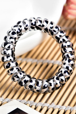 Gray Leopard Print Telephone Wire Hair Band
