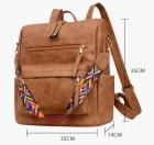 حقيبة ظهر كاجوال متعددة الاستخدامات بنية اللون