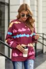Sweatshirt imprimé Tie Dye Rosy