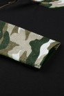 Sweat à capuche à double capuche et imprimé camouflage
