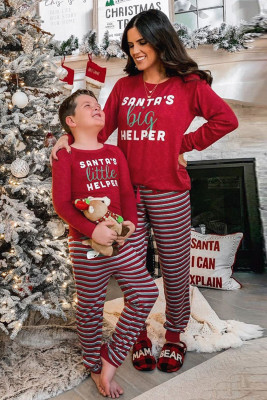 SANTA'S big HELPER Print Mama's Holiday Home Loungewear Set