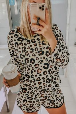 Пижама Lounge с принтом Wild Leopard