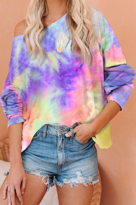 Classic Tie Dye Pullover Long Sleeve Top