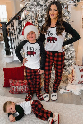 Plaid Print Mama's Holiday Home Loungewear Set