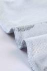 Grauer gestreifter Kapuzenpullover mit Kordelzug und seitlichem Split
