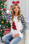 Merry Christmas Gray Long Sleeve Top