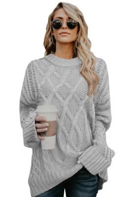 Серый толстый пуловер оверсайз