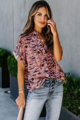 Pinkes Kurzarm-T-Shirt mit Toss and Tumble-Print