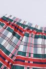 Красный воротник рубашки клетчатый рождественский пижамный комплект на пуговицах