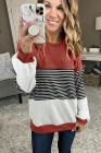 Colorblock Stripes Patchwork Sweatshirt