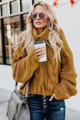 Водостойкий вязаный свитер с капюшоном ручной работы