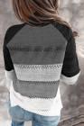 Schwarzer Highlight Colorblock Rollkragenpullover mit Rollkragenpullover