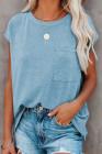 Camiseta tejida con bolsillos y aberturas laterales