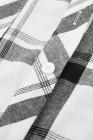 قميص منقوش بحاشية منحنية وأكمام طويلة