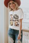 Белая футболка Valentine с круглым вырезом и мультяшными буквами